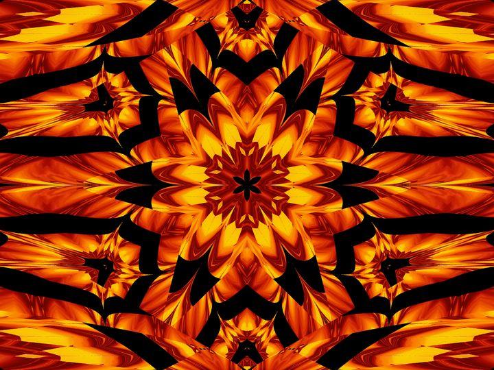 Fire Flowers 111 - Sherrie D. Larch