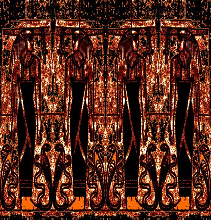 Egyptian Priests Cobras GoldBlack 3 - Sherrie D. Larch