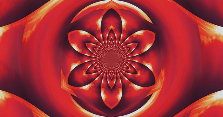 Red Fire Flower 1 - Sherrie D. Larch