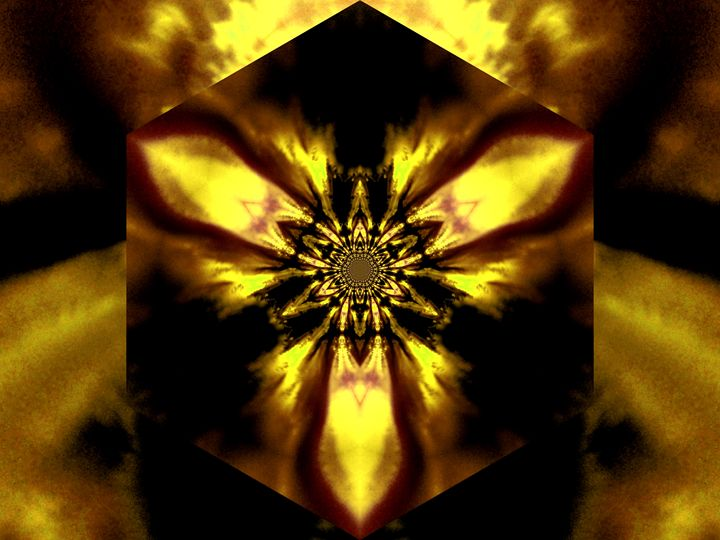 Fire Lotus Yellow 1 - Sherrie D. Larch