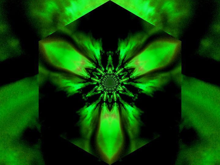 Fire Lotus Green 1 - Sherrie D. Larch
