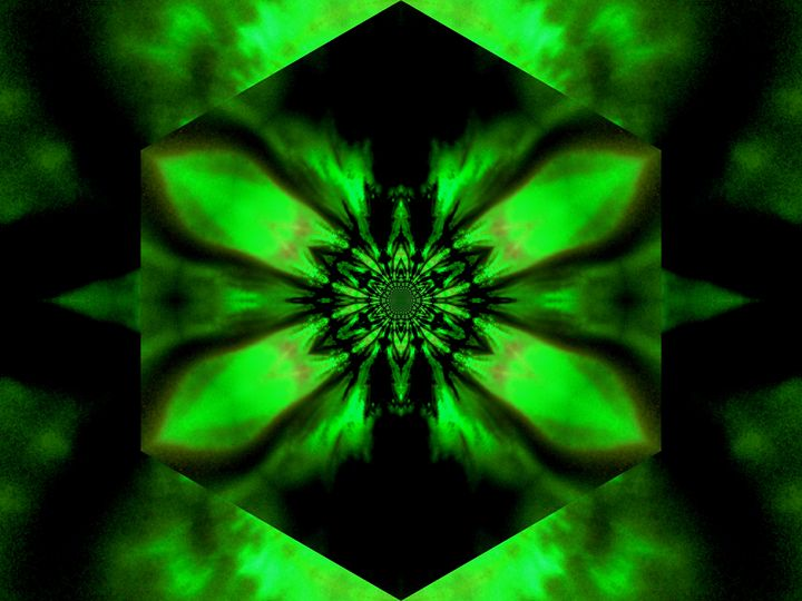 Fire Lotus Green 2 - Sherrie D. Larch