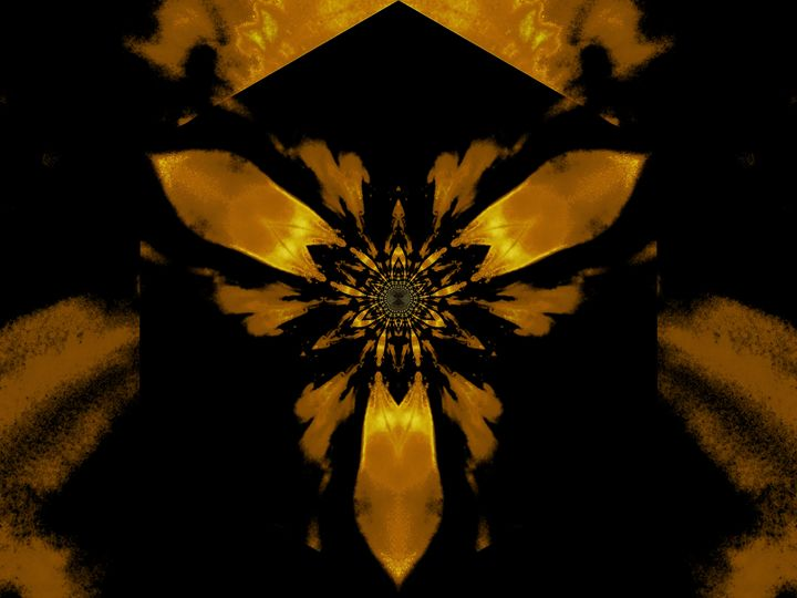 Fire Lotus Golden Yellow 1 - Sherrie D. Larch