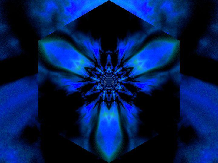Fire Lotus Blue 1 - Sherrie D. Larch