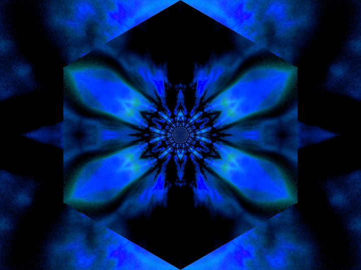 Fire Lotus Blue 2 - Sherrie D. Larch