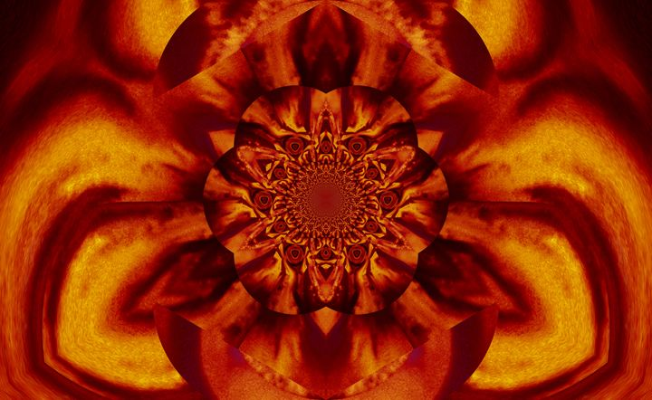 Lotus in Gold Satin - Sherrie D. Larch
