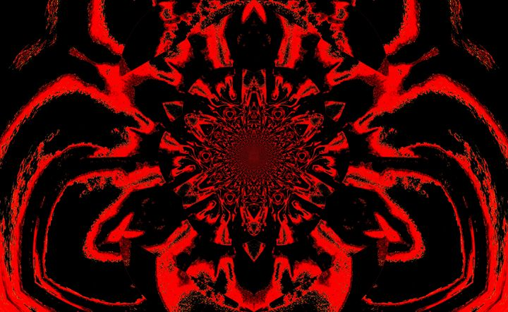 Lotus in Black and Red Satin - Sherrie D. Larch