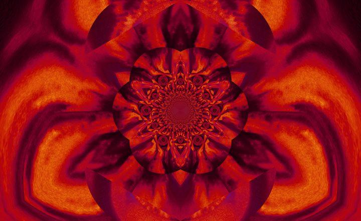 Lotus in Orange Satin - Sherrie D. Larch