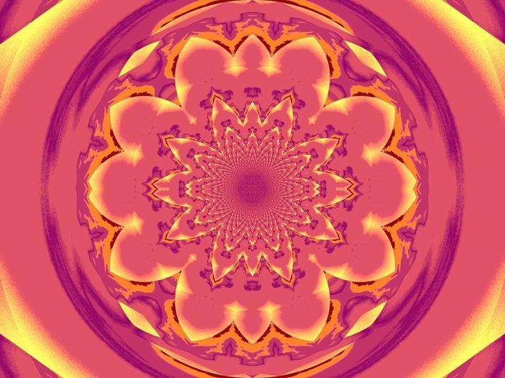 Calm Orange Lotus Mandala 1 - Sherrie D. Larch