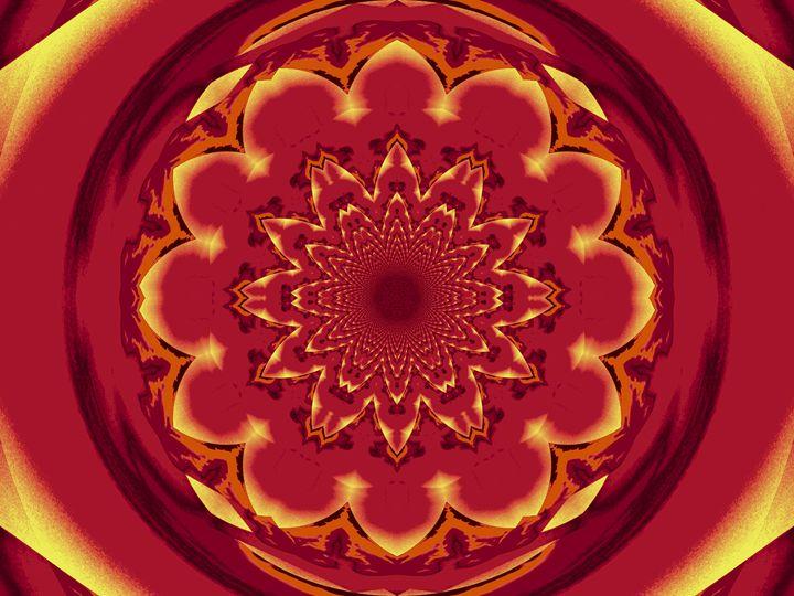 Calm Orange Lotus Mandala 2 - Sherrie D. Larch