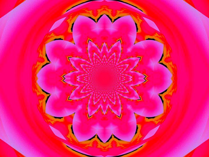 Calm Pink Lotus Mandala 2 - Sherrie D. Larch