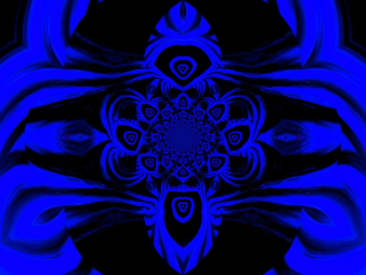 Light Storm Blue Mandala 2 - Sherrie D. Larch