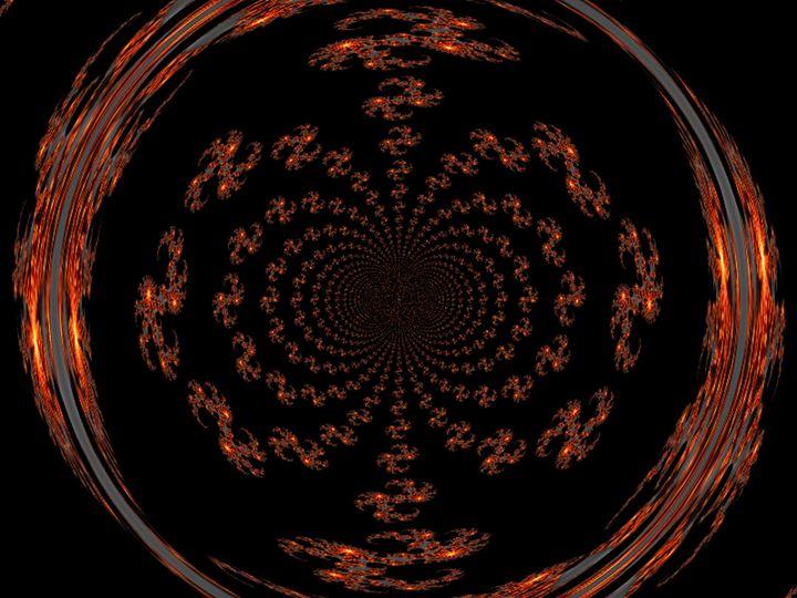 Mandala of Gold and Black I - Sherrie D. Larch