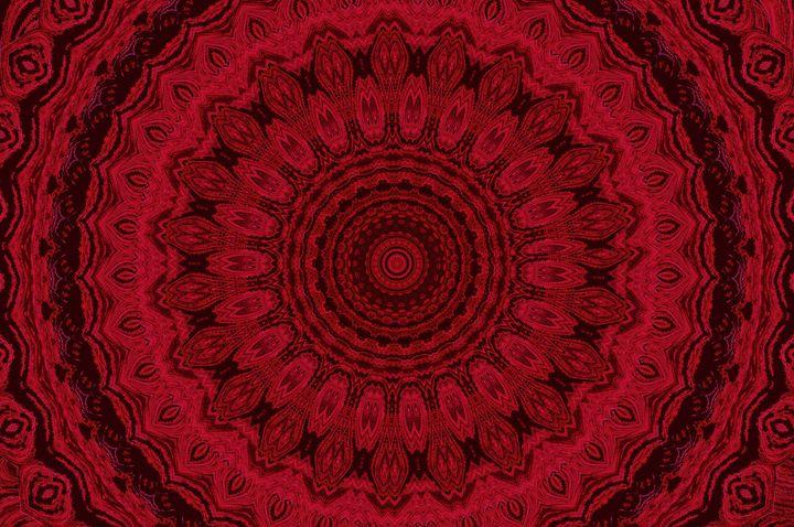 Red and Black Wheel Mandala 2 - Sherrie D. Larch