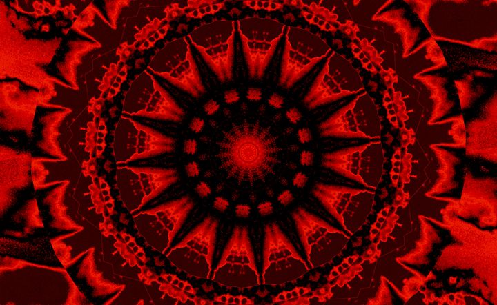 Red Dharma Sky Wheel 1 - Sherrie D. Larch