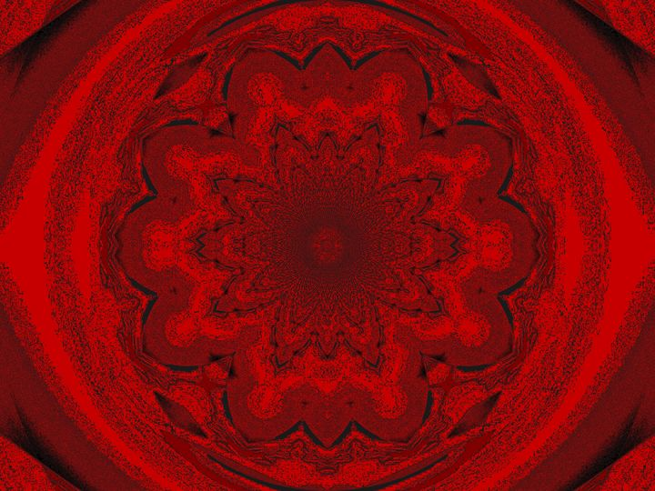 Red Lotus Star Mandala - Sherrie D. Larch