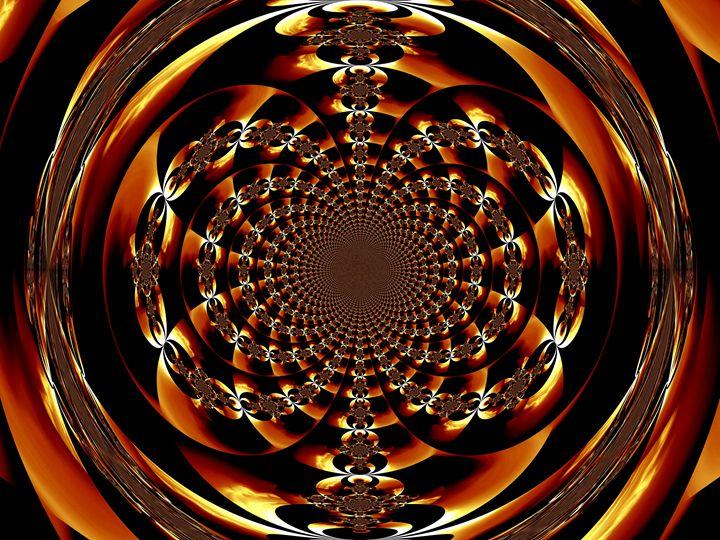 Golden Fire Scarab Mandala I - Sherrie D. Larch