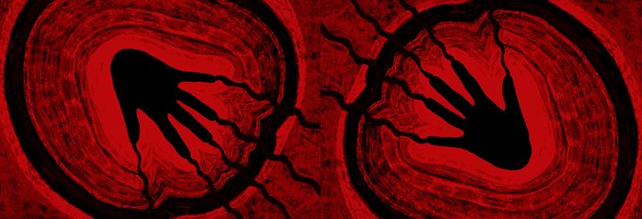 Electric Aura In Red and Black 3 - Sherrie D. Larch