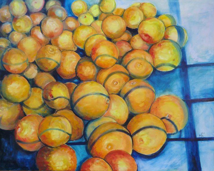 Oranges bathing in the Sun - Mariana Eksteen