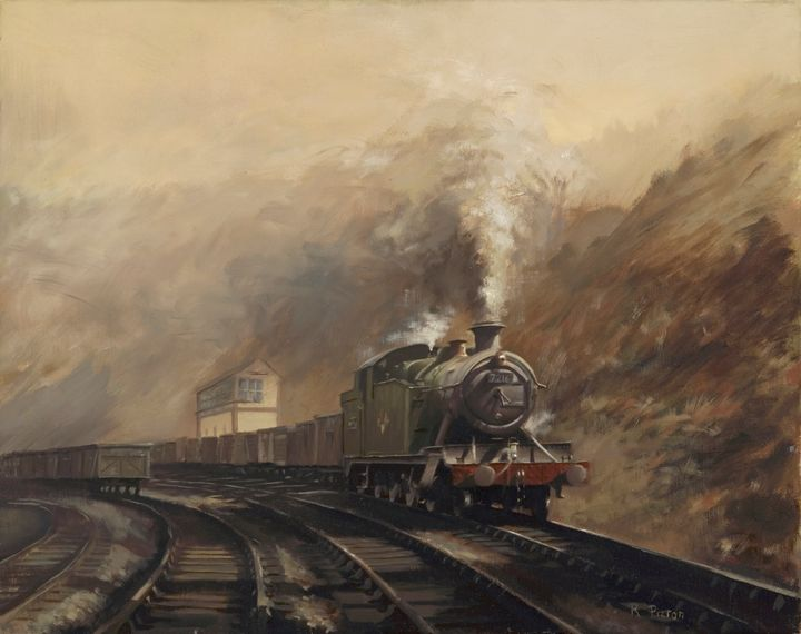 South Wales Coal Train - Pictonart