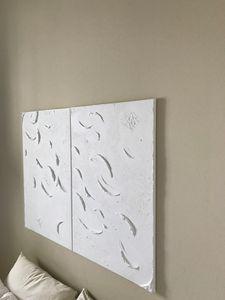 Minimalistic abstract textured art