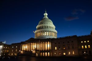 United States Capitol at Night East