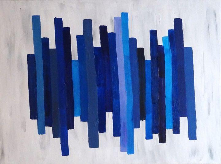 Blue Acrylic Abstract - Landrum Canvas