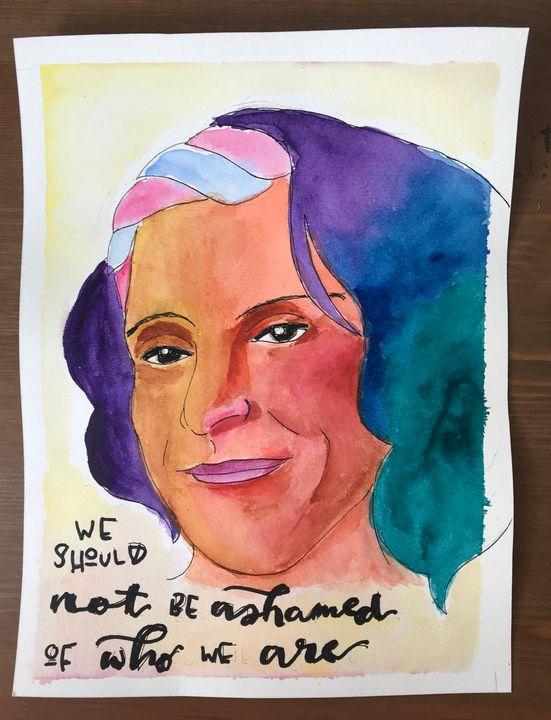 Sylvia Rivera | Queer History Heroes - eejayheart | EJ Huston Art