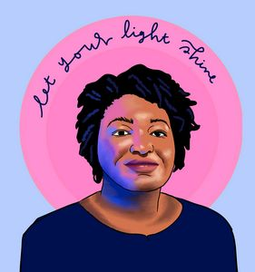 Stacey Abrams Let Your Light Shine