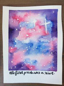 Trans Pride Galaxy Watercolor