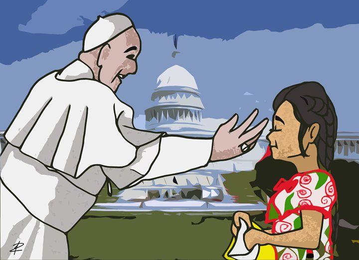 Pope Francis Sofia Cruz - Jesse Raudales