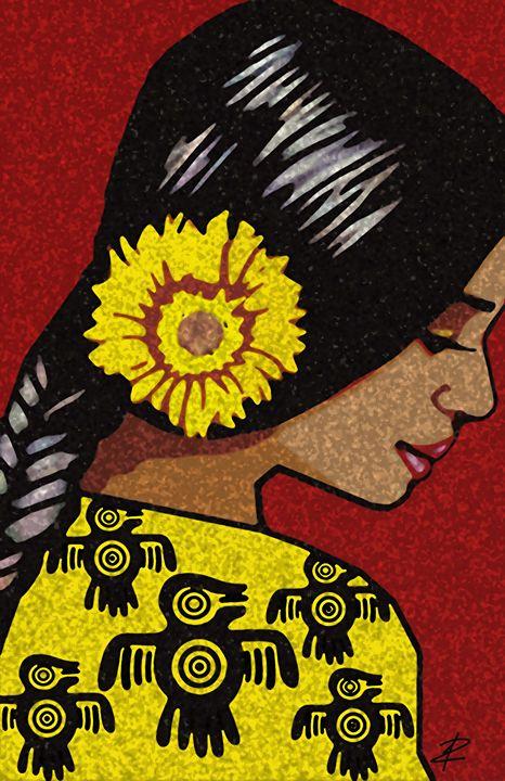 Pajaro Azteca by Jesse Raudales - Jesse Raudales