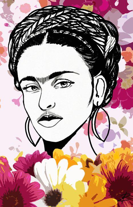 Kahlo Frida by Jesse Raudales - Jesse Raudales