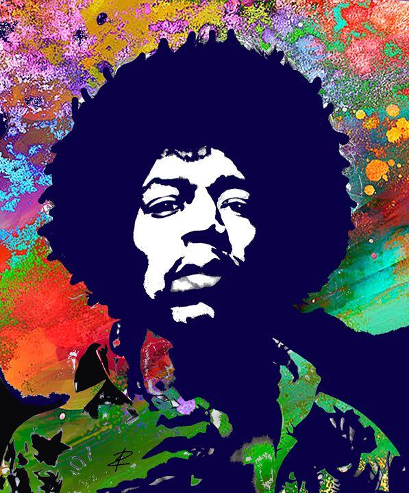 Jimi Hendrix by Jesse Raudales - Jesse Raudales
