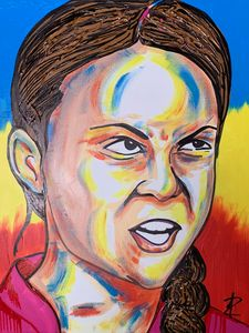 Greta Thunberg by Jesse Raudales