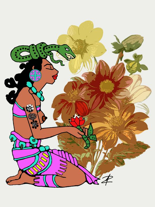 Ix Chel Mayan Goddess by Jesse Rauda - Jesse Raudales