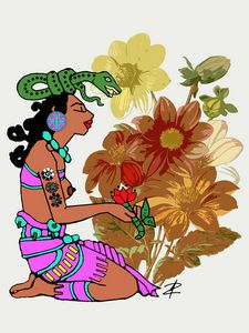 Ix Chel Mayan Goddess by Jesse Rauda