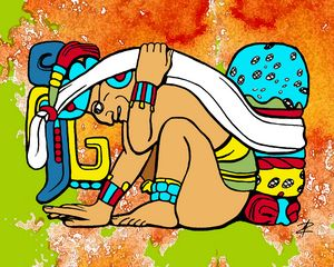 Mayan Glyph by Jesse Raudales