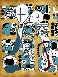Mayan Hieroglyphs by Jesse Raudales