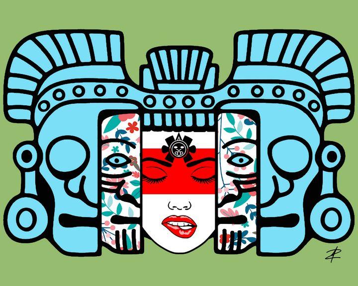 Mayan Mask Rebirth by Jesse Raudales - Jesse Raudales