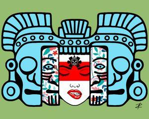 Mayan Mask Rebirth by Jesse Raudales