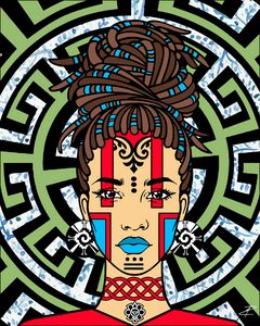 Mayan Afro-Queen by Jesse Raudales