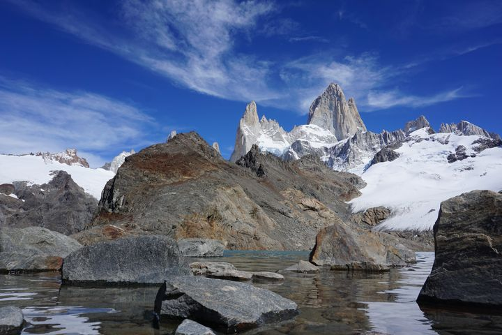 Level with Laguna de Los Tres - R.Gourley