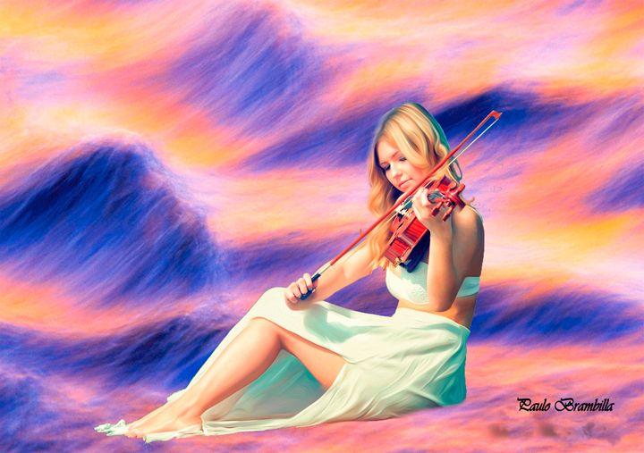 Uma violinista - Paulo Brambilla