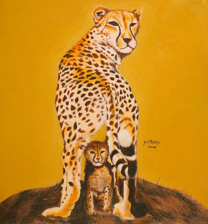 Leopard and Cub - Smitholas Art
