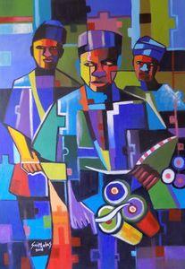 Abstract Bata Drummer