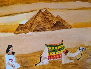 Pyramids and princess - PaintStopByNandini
