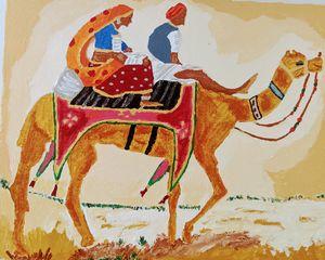 Rajasthan folk art - PaintStopByNandini