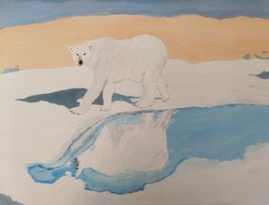 Playful polar bear - PaintStopByNandini