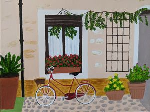 Street in Italy - PaintStopByNandini